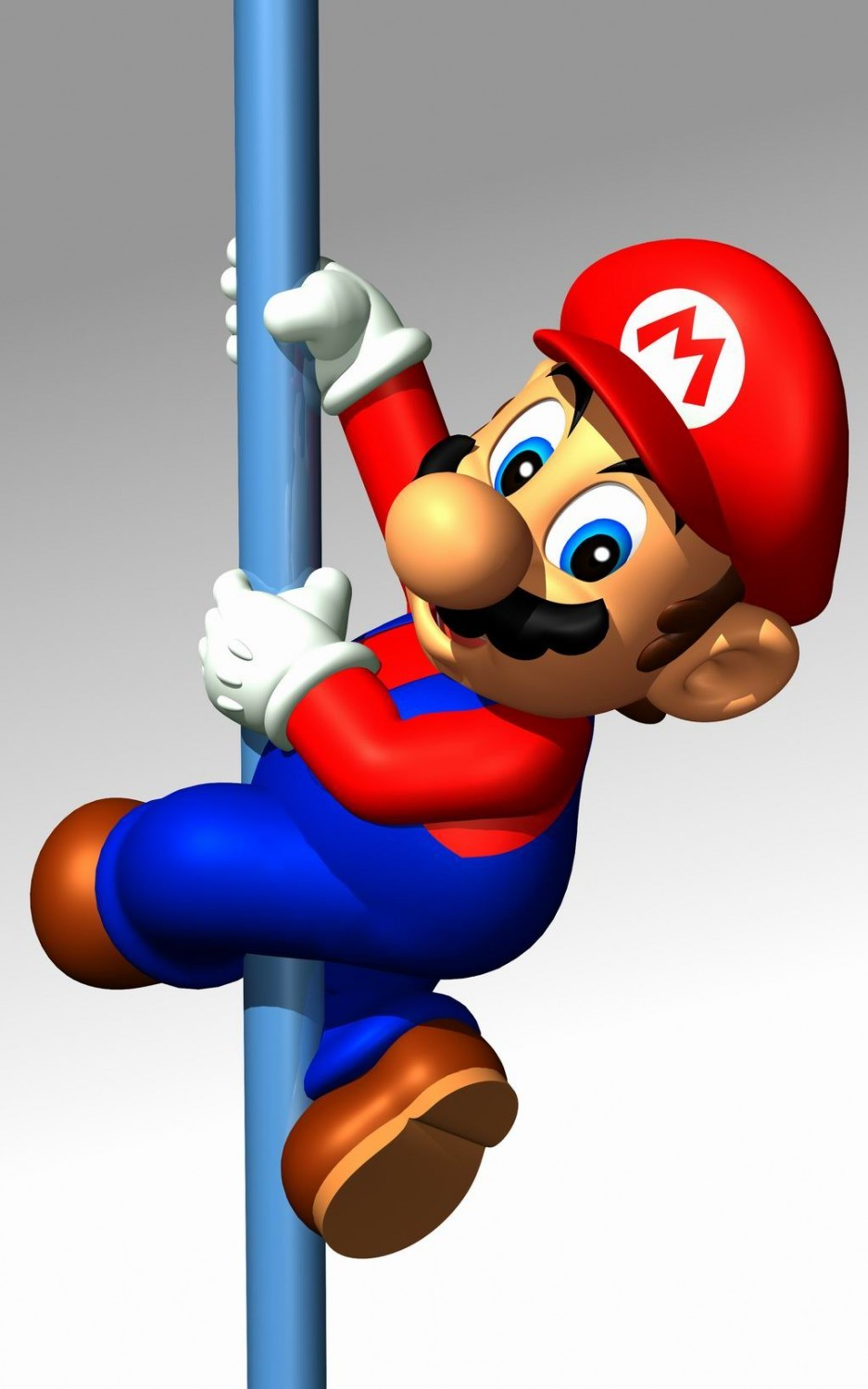 funny mario on a pole mobile wallpaper