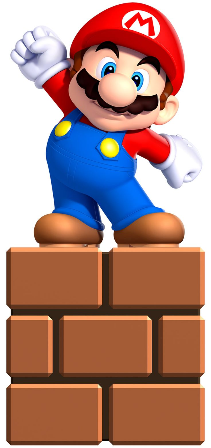 little mario on a brick mobile wallpaper